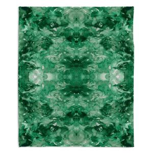 Decorative Fleece Throw Blankets | Julia Di Sano - Tie Dye Helix Green