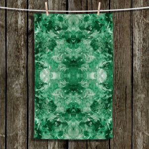 Unique Bathroom Towels | Julia Di Sano - Tie Dye Helix Green