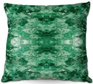 Throw Pillows Decorative Artistic | Julia Di Sano - Tie Dye Helix Green