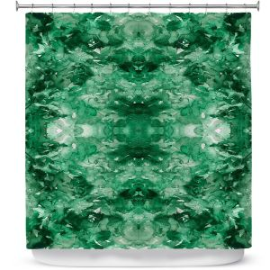 Premium Shower Curtains | Julia Di Sano - Tie Dye Helix Green