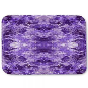 Decorative Bathroom Mats | Julia Di Sano - Tie Dye Helix Purple