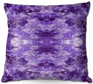 Decorative Outdoor Patio Pillow Cushion | Julia Di Sano - Tie Dye Helix Purple