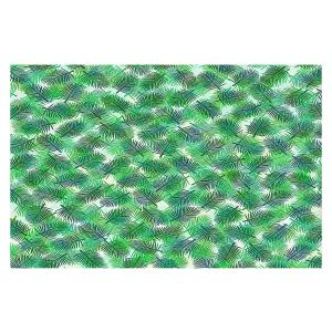Decorative Floor Covering Mats | Julia Di Sano - Tropical Palms 1 | pattern nature tree leaves