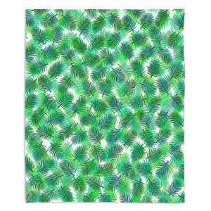 Decorative Fleece Throw Blankets | Julia Di Sano - Tropical Palms 1 | pattern nature tree leaves