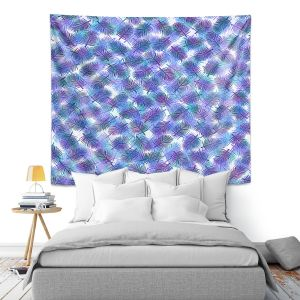 Artistic Wall Tapestry | Julia Di Sano - Tropical Palms 3 | pattern nature tree leaves