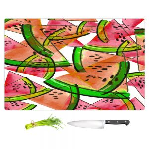 Artistic Kitchen Bar Cutting Boards | Julia Di Sano - Watermelon Picnic Orange