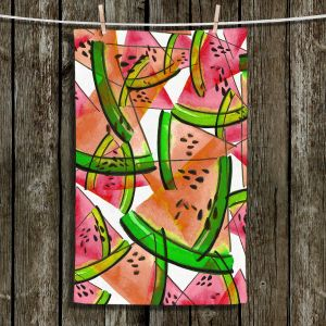 Unique Hanging Tea Towels | Julia Di Sano - Watermelon Picnic Orange | Watermelon Colorful Summer