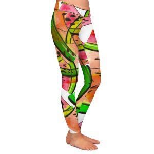 Casual Comfortable Leggings | Julia Di Sano - Watermelon Picnic Orange