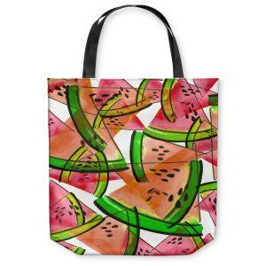 Unique Shoulder Bag Tote Bags | Julia Di Sano - Watermelon Picnic Orange