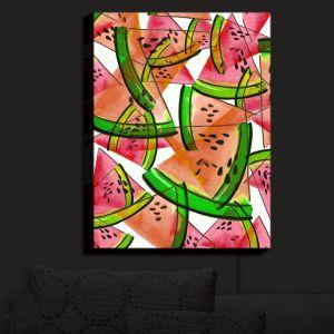 Nightlight Sconce Canvas Light | Julia Di Sano - Watermelon Picnic Orange | Watermelon Colorful Summer