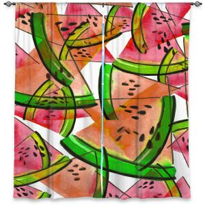 Decorative Window Treatments | Julia Di Sano - Watermelon Picnic Orange