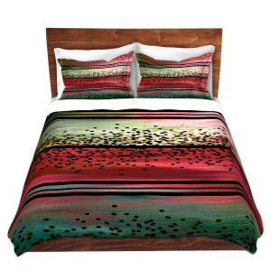 Artistic Duvet Covers and Shams Bedding | Julia Di Sano - Watermelon Seeds