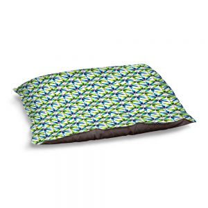Decorative Dog Pet Beds | Julia Di Sano - Weed Love Blue Green | Marijuana Pot Smoking Cannabis