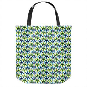 Unique Shoulder Bag Tote Bags | Julia Di Sano - Weed Love Blue Green | Marijuana Pot Smoking Cannabis