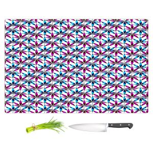 Artistic Kitchen Bar Cutting Boards | Julia Di Sano - Weed Love Fushcia Blue | Marijuana Pot Smoking Cannabis
