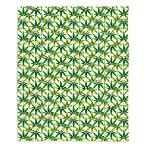 Decorative Fleece Throw Blankets | Julia Di Sano - Weed Love Green Yellow | Marijuana Pot Smoking Cannabis