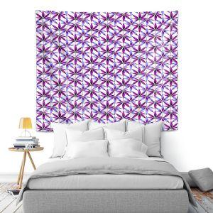 Artistic Wall Tapestry | Julia Di Sano - Weed Love Lavender Plum | Marijuana Pot Smoking Cannabis