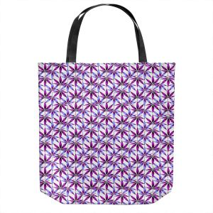 Unique Shoulder Bag Tote Bags | Julia Di Sano - Weed Love Lavender Plum | Marijuana Pot Smoking Cannabis