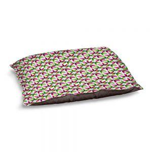 Decorative Dog Pet Beds   Julia Di Sano - Weed Love Pink Green   Marijuana Pot Smoking Cannabis
