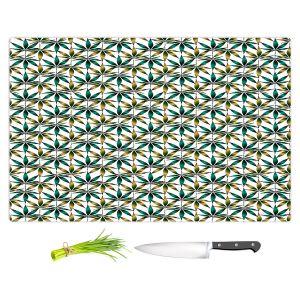 Artistic Kitchen Bar Cutting Boards | Julia Di Sano - Weed Love Teal Tan | Marijuana Pot Smoking Cannabis