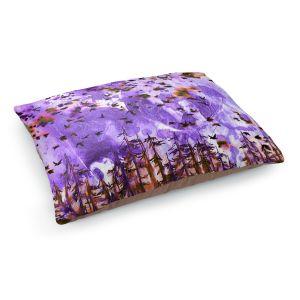 Decorative Dog Pet Beds   Julia Di Sano - Were Better Purple   Abstract nature trees birds landscape scenery