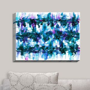 Decorative Canvas Wall Art | Julia Di Sano - White Noise I | Abstract Painting