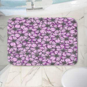 Decorative Bathroom Mats | Julia Di Sano - Wild Blooms Plum Lavender | Floral Flower Pattern