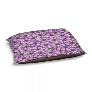 Decorative Dog Pet Beds | Julia Di Sano - Wild Blooms Plum Lavender | Floral Flower Pattern