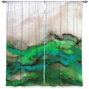 Decorative Window Treatments | Julia Di Sano - Winter Waves Green