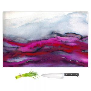 Artistic Kitchen Bar Cutting Boards | Julia Di Sano - Winter Waves Pink Purple