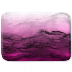 Decorative Bathroom Mats | Julia Di Sano - Winter Waves Purple