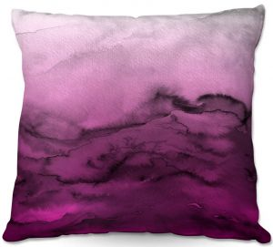 Throw Pillows Decorative Artistic | Julia Di Sano - Winter Waves Purple