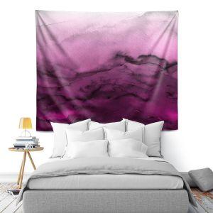 Artistic Wall Tapestry | Julia Di Sano - Winter Waves Purple