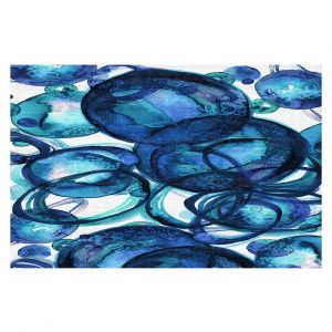 Decorative Floor Coverings | Julia Di Sano - Worlds Collide Blue | Abstract Circles