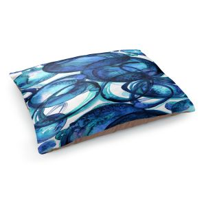 Decorative Dog Pet Beds | Julia Di Sano - Worlds Collide Blue | Abstract Circles