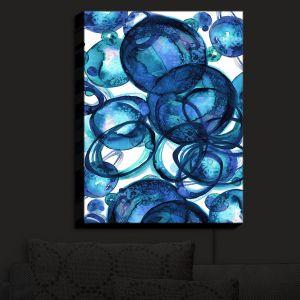 Nightlight Sconce Canvas Light | Julia Di Sano - Worlds Collide Blue