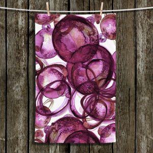Unique Hanging Tea Towels | Julia Di Sano - Worlds Collide Magenta | Abstract Circles