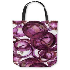 Unique Shoulder Bag Tote Bags | Julia Di Sano - Worlds Collide Magenta | Abstract Circles
