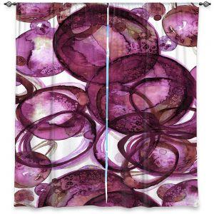 Decorative Window Treatments   Julia Di Sano - Worlds Collide Magenta   Abstract Circles