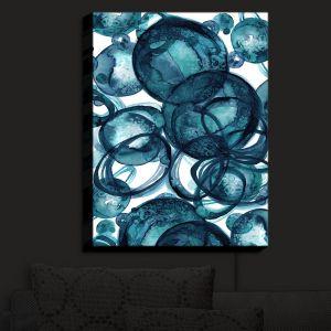 Nightlight Sconce Canvas Light | Julia Di Sano - Worlds Collide Teal