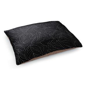 Decorative Dog Pet Beds | Julia Grifol - Black Leaves