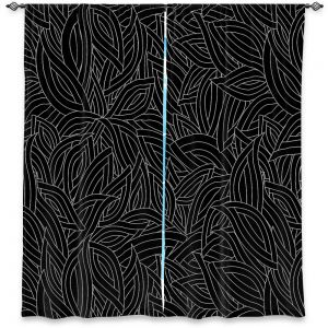 Decorative Window Treatments | Julia Grifol - Black Leaves