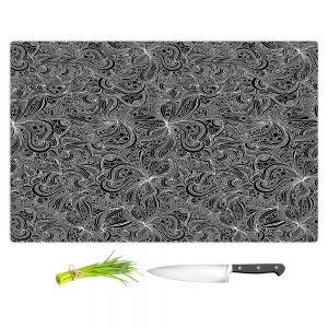 Artistic Kitchen Bar Cutting Boards | Julia Grifol - Black Shapes