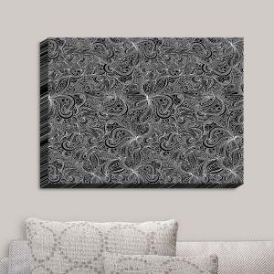 Decorative Canvas Wall Art | Julia Grifol - Black Shapes | Patterns