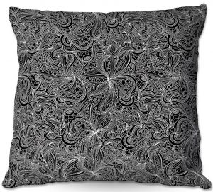 Decorative Outdoor Patio Pillow Cushion | Julia Grifol - Black Shapes