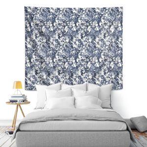 Artistic Wall Tapestry   Julia Grifol Blue Butterflies