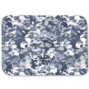 Decorative Bathroom Mats | Julia Grifol - Blue Butterflies II