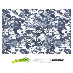 Artistic Kitchen Bar Cutting Boards | Julia Grifol - Blue Butterflies II