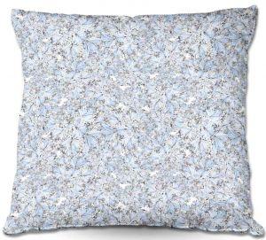 Decorative Outdoor Patio Pillow Cushion | Julia Grifol - Blue Flowers I