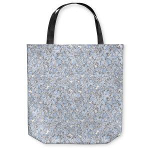 Unique Shoulder Bag Tote Bags | Julia Grifol Blue Flowers